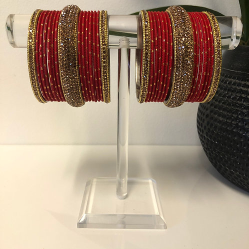 MISHKA Bangle Set - Red