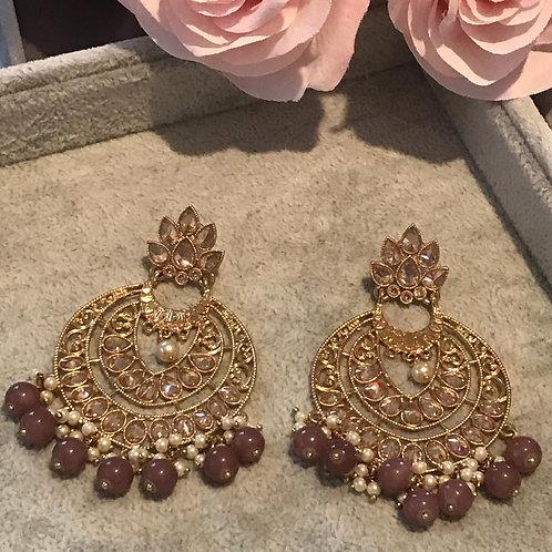 ARIA Purple Earrings