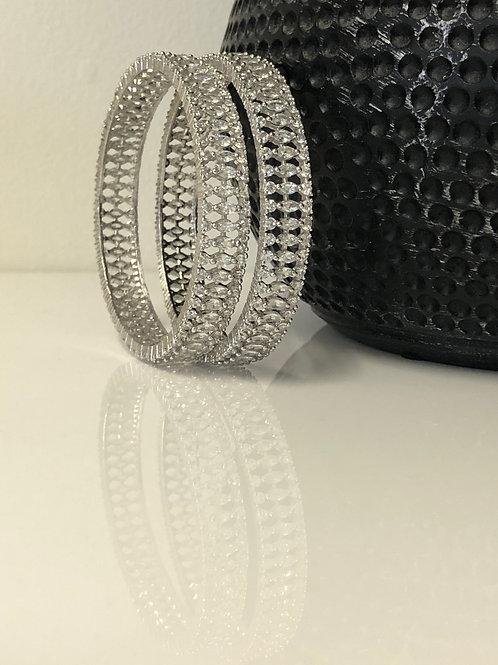 Silver AD Kangans - Set of 2