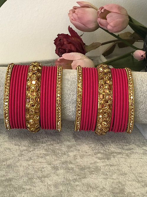 Red - KASHISH BANGLE SET