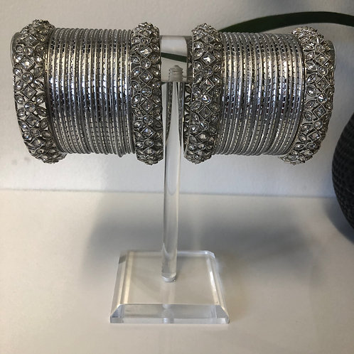 REGAL Antique Silver Bangle Set