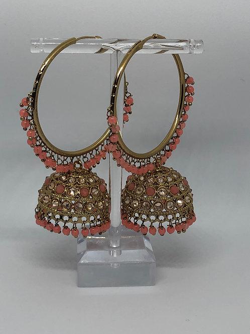 AKIRA Pink Jhumki/Hoop Earrings