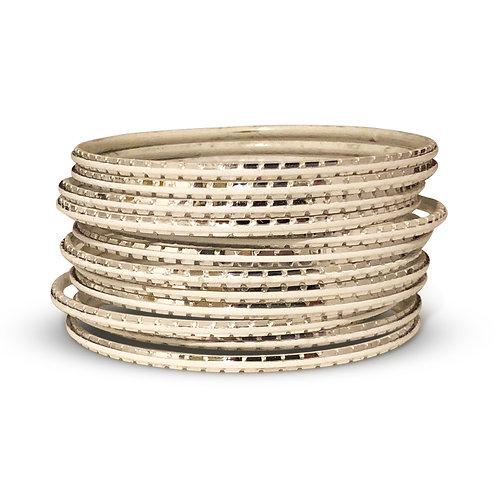 36 Silver Indo-Western Bangles