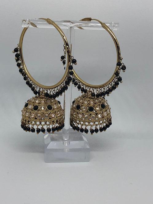 AKIRA Black Jhumki/Hoop Earrings