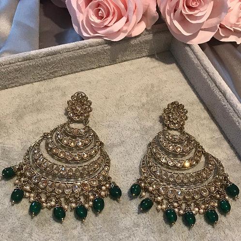 AMRITA Bottle Green Earrings