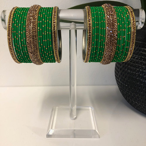 MISHKA Bangle Set - Green
