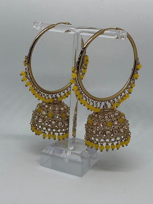 AKIRA Yellow Jhumki/Hoop Earrings