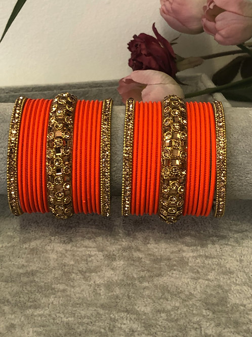 Orange Burst - KASHISH BANGLE SET