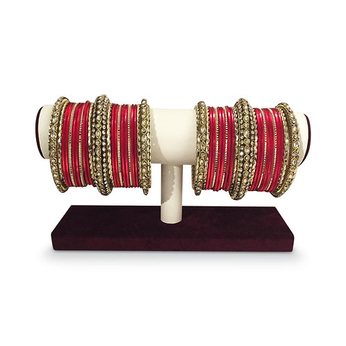 Exclusive Ruby Red Bangles (Full Set)