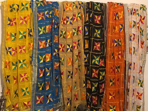 Traditional Boxed Phulkari Dupatta
