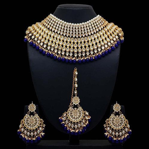 Jodha Akhbar, Royal Blue Necklace Set