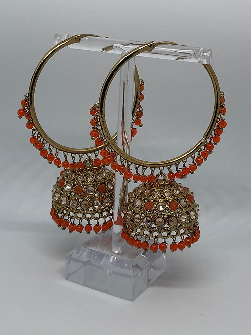 AKIRA Orange Jhumki/Hoop Earrings