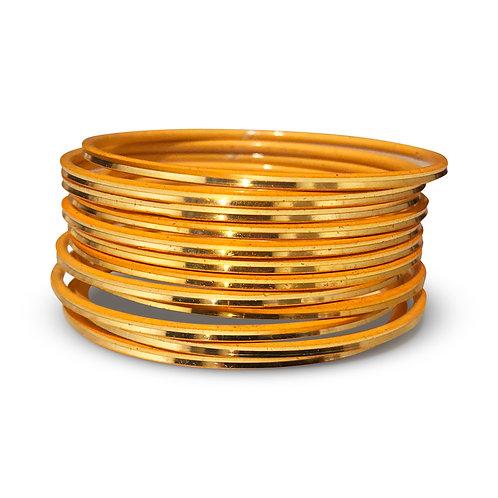 36 Gold Shiny Bangles