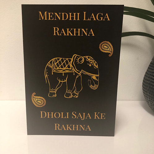 Mendhi Laga Rakhna Greetings Card