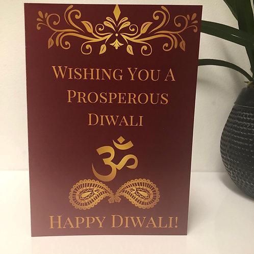 Wishing You A Prosperous Diwali - Greeting Card