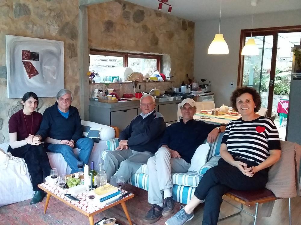 Da direita para esquerda: Renata Camargo, Mario Massena, Jacques Poulain, Ronaldo Brito e Maria Noujaim