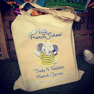 La Petite French School has her own tote