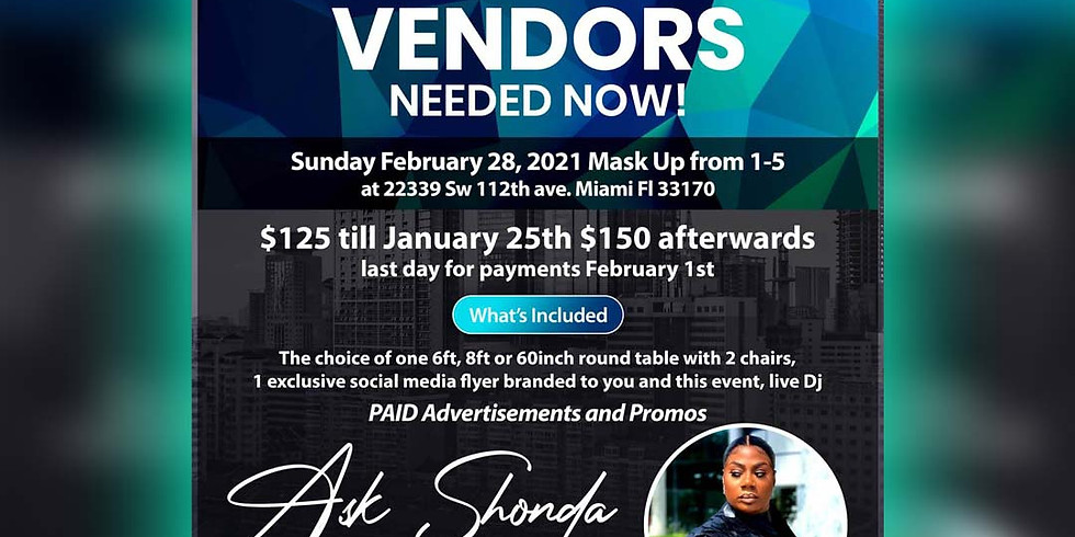Vendors Wanted February 28th