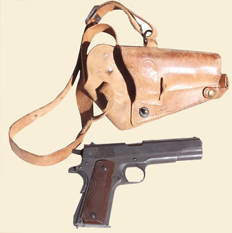 Army Air Force 1911 Pistol With Leather Holster