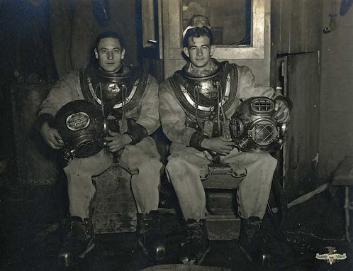 Photo of 2 US Navy Mark V Divers