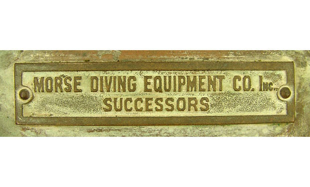 Morse Diving Equipment Co Successors Helmet Tag