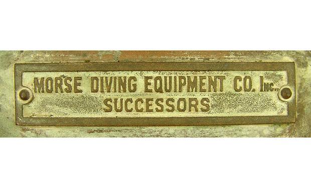 Morse Diving Equipment Co Successors Helmet Tag
