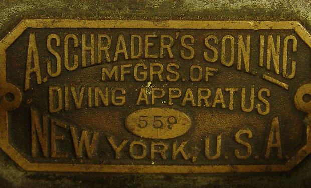 Schrader's Son Diving Apparatus Tag