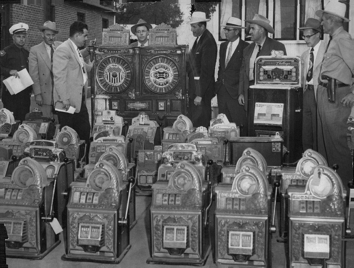 Slot Machines On Display After Raid