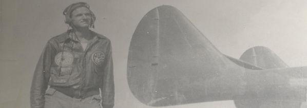 Man Wearing His WW2 Flight Jacket