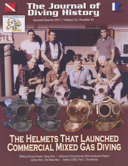 The Journal of Diving History #91  Commercial Mixed Gas Diving Helmets