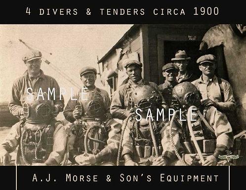 Antique Divers Photo Poster - A.J. Morse & Son's Helmets