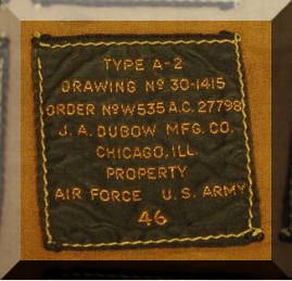 Example Of An A-2 WW2 Flight Jacket Label