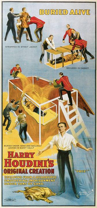 Harry Houdini's Original Creation - Buried Alive!