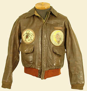 WW2 A-2 Flight Jacket With Squadron Patches