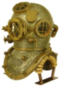 Mark V Bullhead Diving Helmet Display Stand Right Side