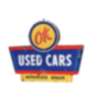 ok used cars sign