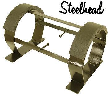 Steelhead diving helmet display stand