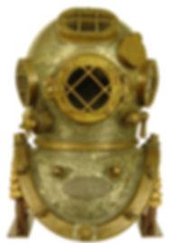 Mark V Diving Helmet Display Stand Bullhead Front View