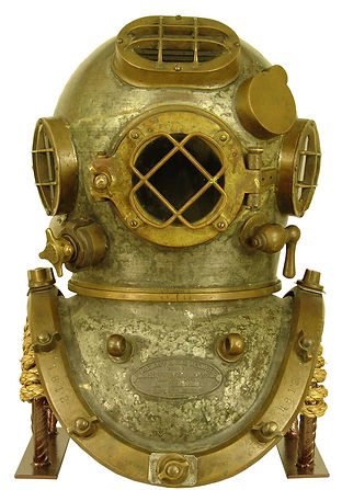 Mark V Diving Helmet Display Stand Bullhead Front View