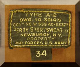 A-2 Leather Flight Jacket Tag