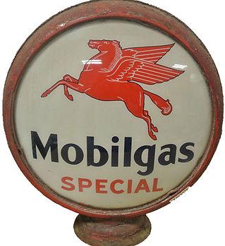 mobil gas gas pump globe