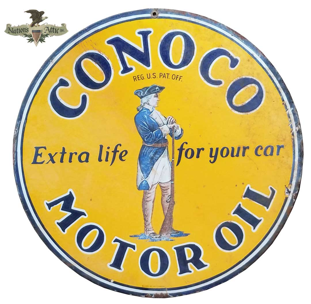 Conoco Motor Oil Sign