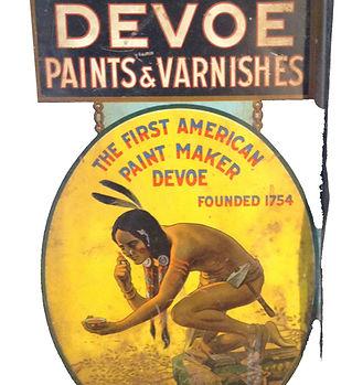 devoe paints varnishes sign