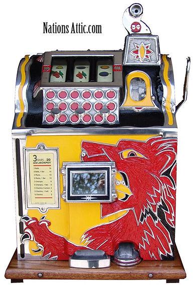 mills_lion_front_slot_machine_restoratio
