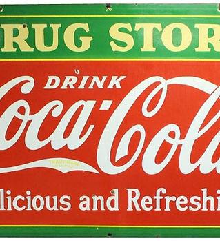 coca cola drug store sign