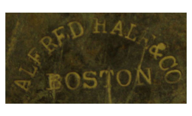 Alfred Hale & Co Boston helmet stamp