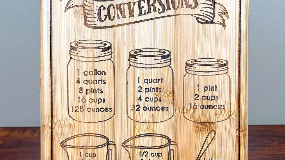 Kitchen Conversions Board (3 Sizes)