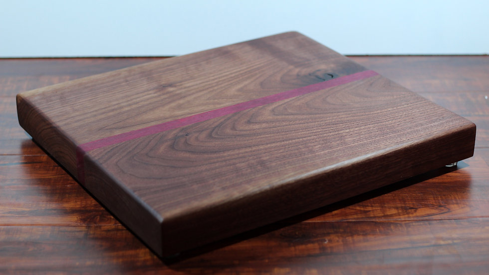Walnut and Purple Heart Horizontal Cutting Board