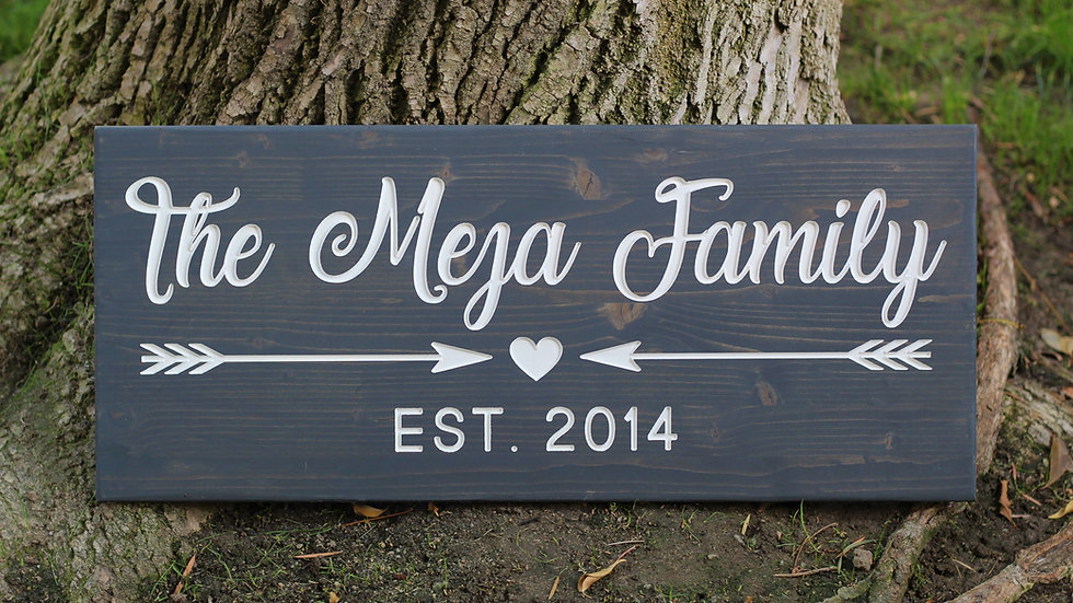 Large Custom Family Name Sign