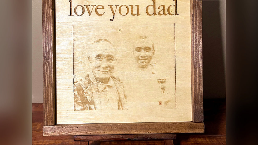 Laser Engraved Keepsake Frame